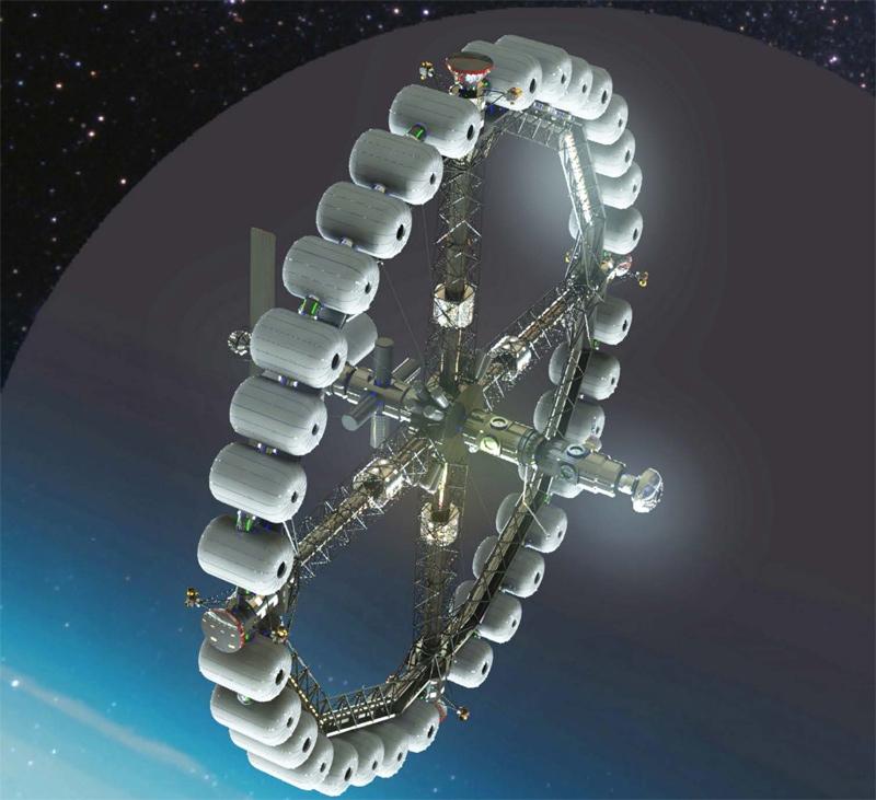 Concept de vaisseau spatial développé dans un rapport de l'ISU