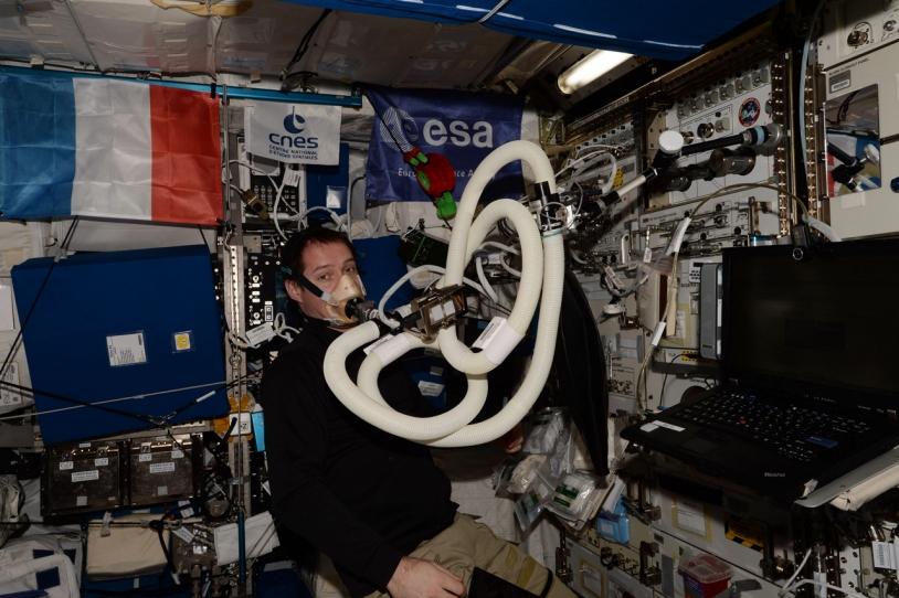 Thomas Pesquet au cours de l'expérience ENERGY