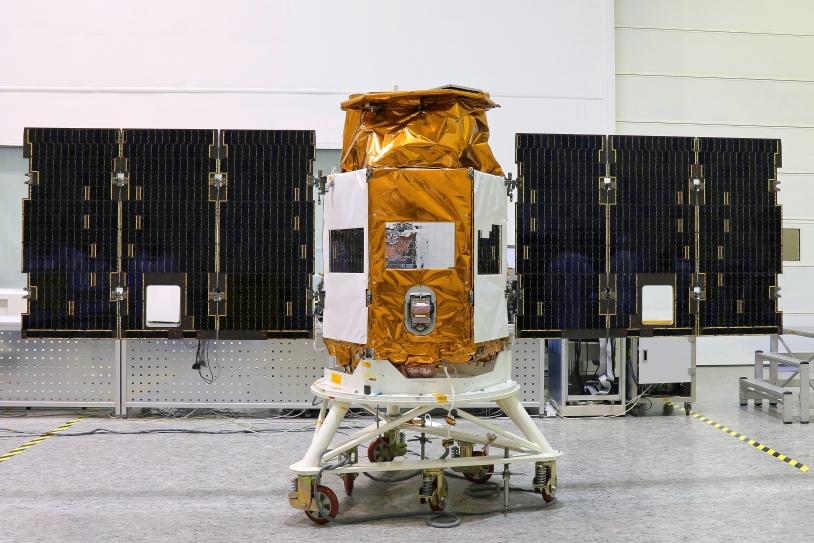 Le satellite Venµs en intégration chez l'industriel IAI/MBT en Israël. © IAI/MBT, 2017