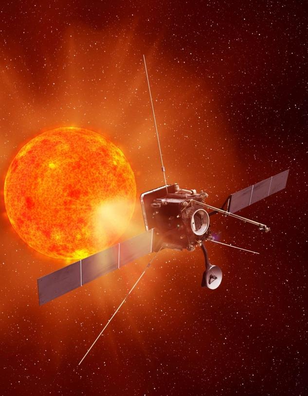 Illustration d'artiste de la sonde Solar Orbiter