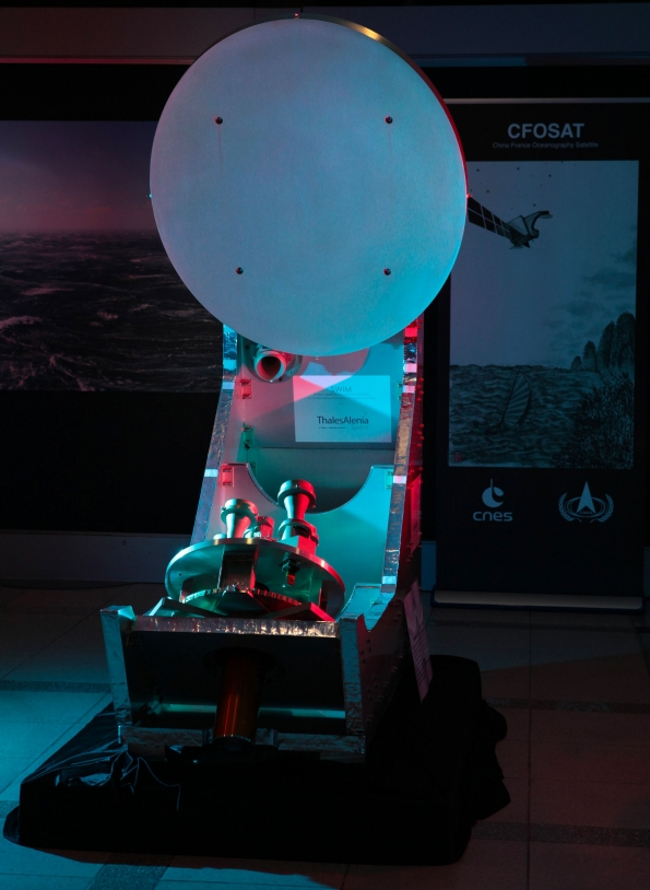 Maquette de l'instrument SWIM du satellite CFOSAT