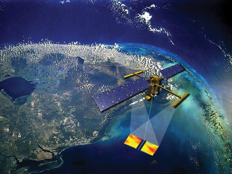 Vue d'artiste du satellite SWOT