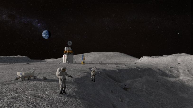 Astronautes sur la Lune