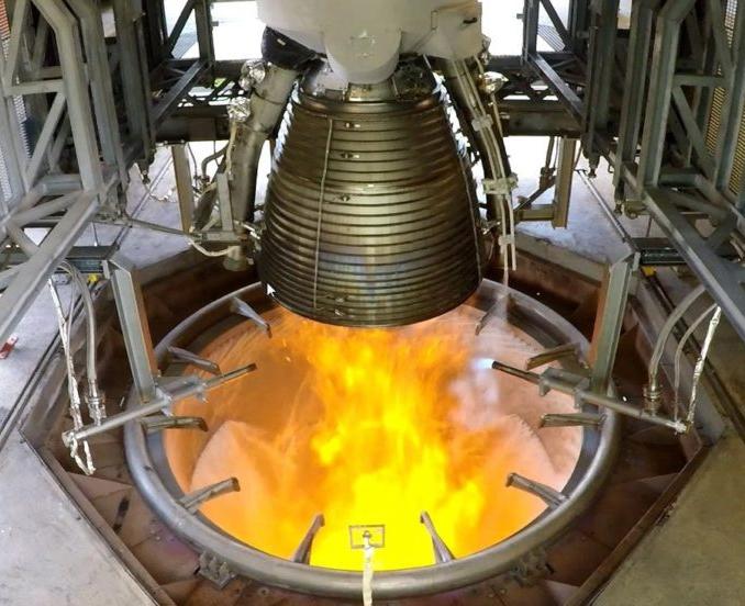 Essai du moteur Vulcain 2.1. en Allemagne