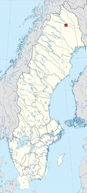 Position de Kiruna sur la carte de la Suède