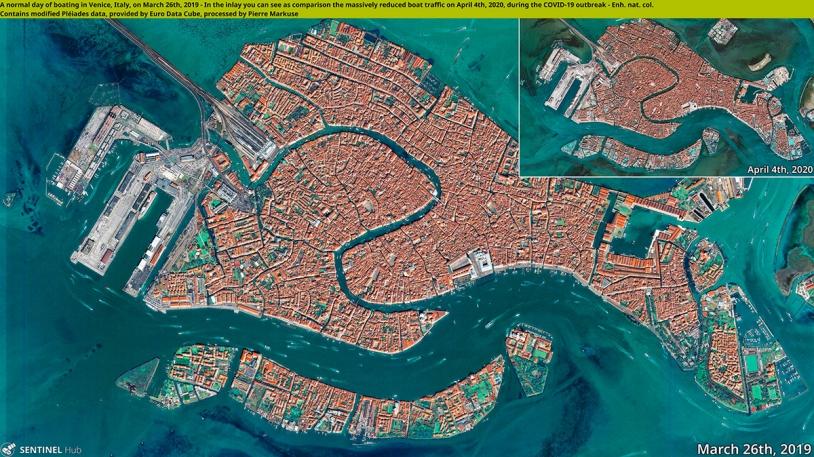 Venise avant et durant le confinement par les Pléaides