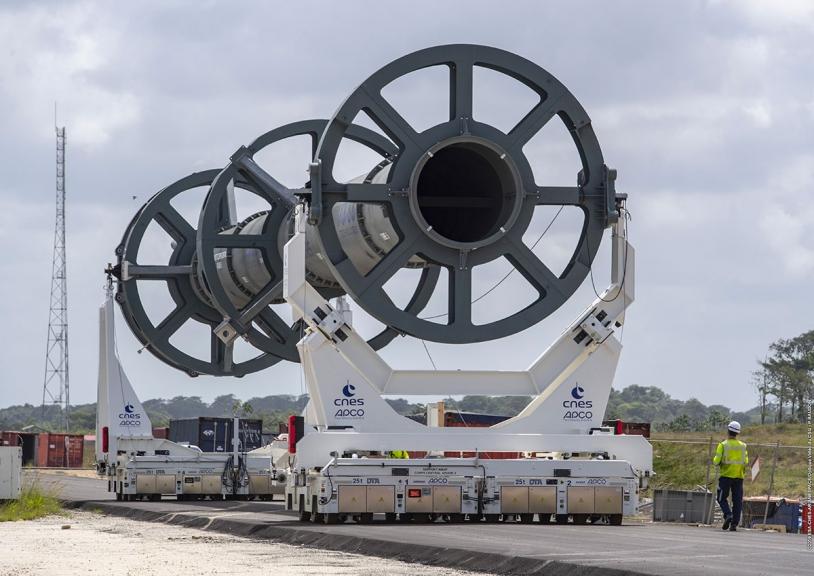 Maquette du corps central d'Ariane 6