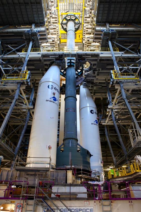 Maquettes du corps central et des boosters d'Ariane 6