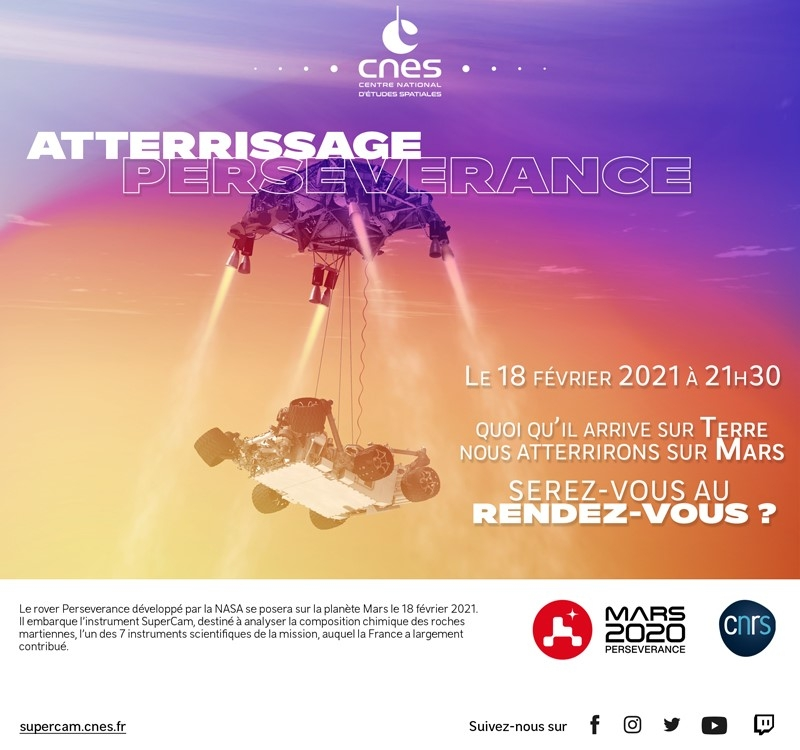 Save the date - Atterrissage Mars 2020
