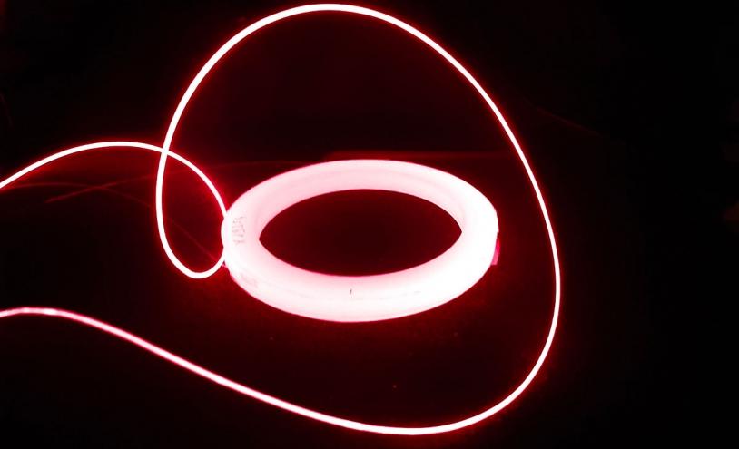 Fibre optique de l'expérience Lumina