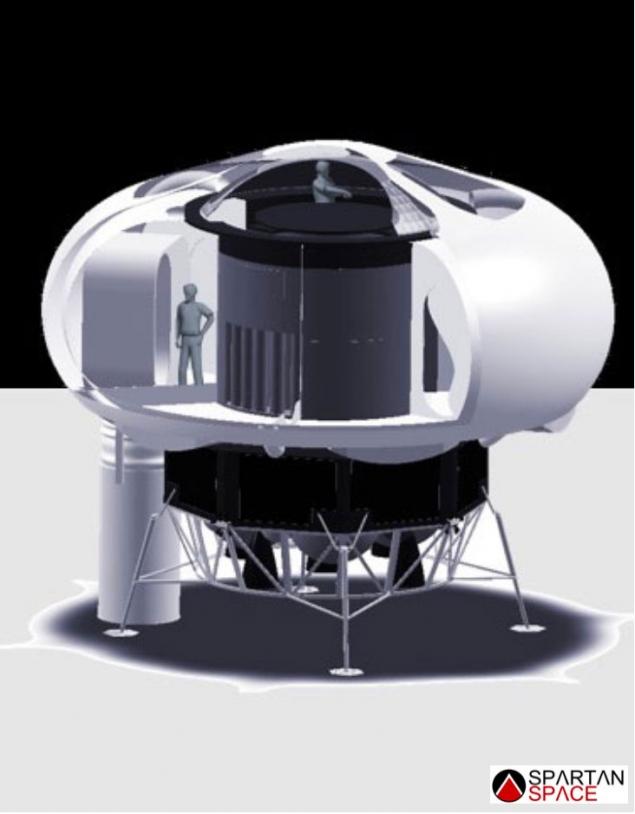 Habitat en structure gonflable