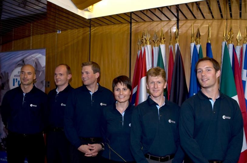 Les 6 nouveaux astronautes de l'ESA